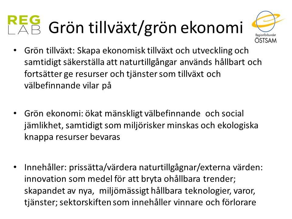 Grön tillväxt/grön ekonomi