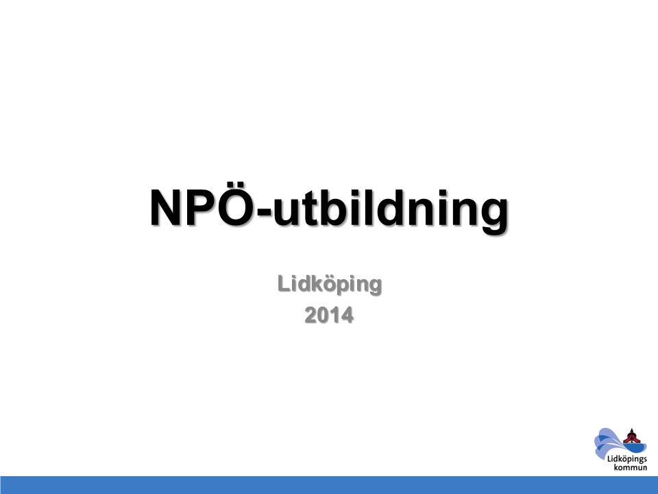 NPÖ-utbildning Lidköping 2014