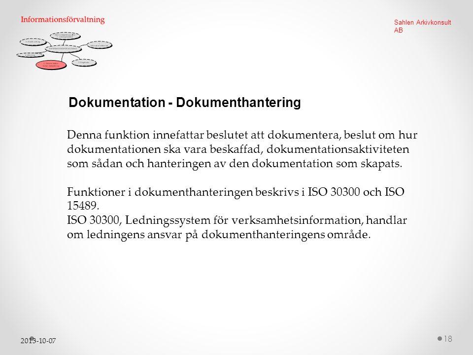 Dokumentation - Dokumenthantering
