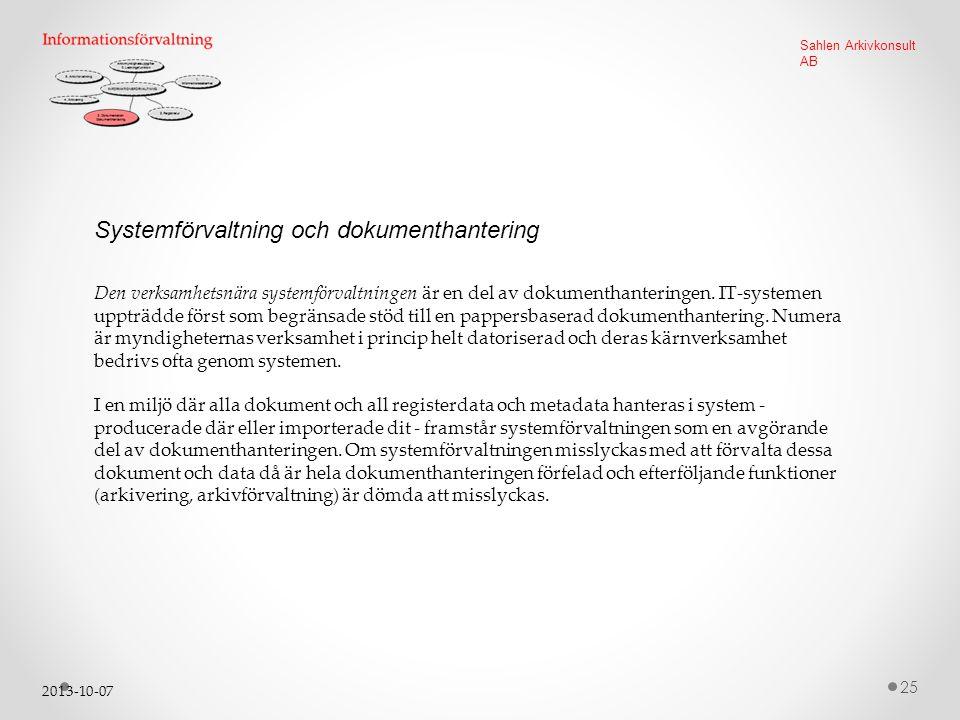 Systemförvaltning och dokumenthantering