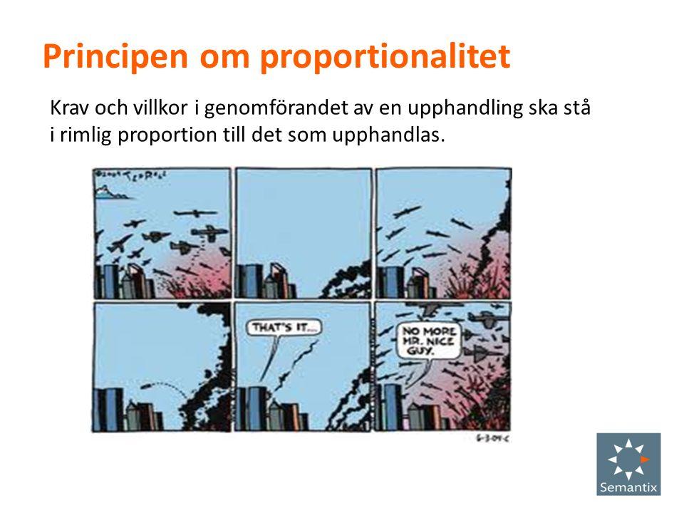 Principen om proportionalitet