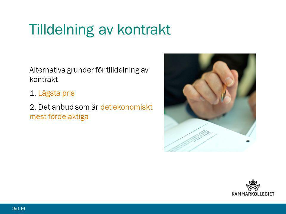 Tilldelning av kontrakt