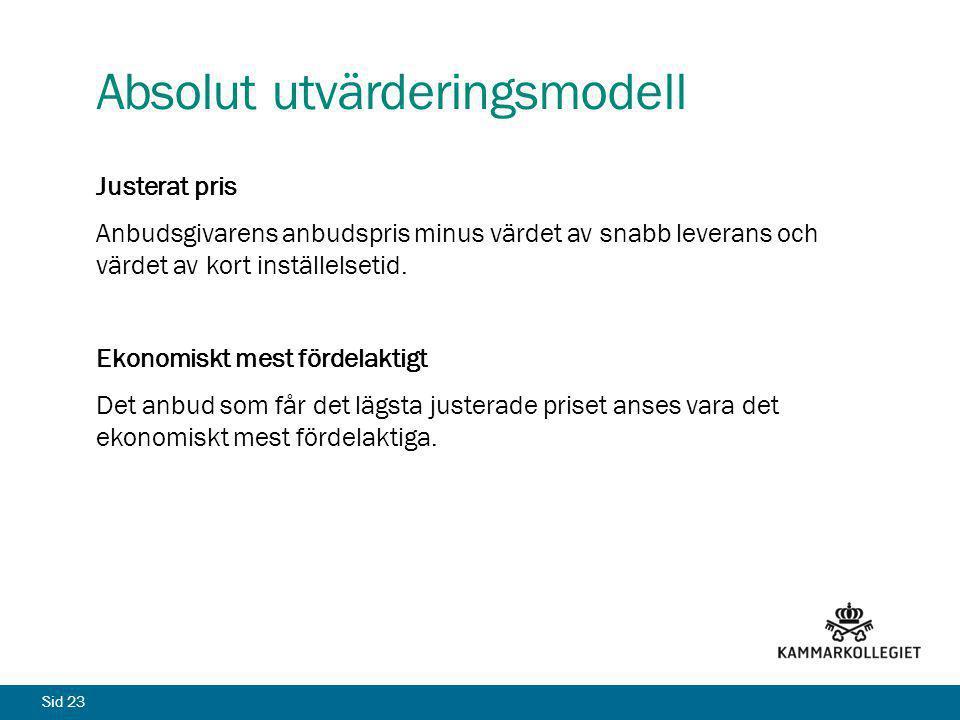 Absolut utvärderingsmodell