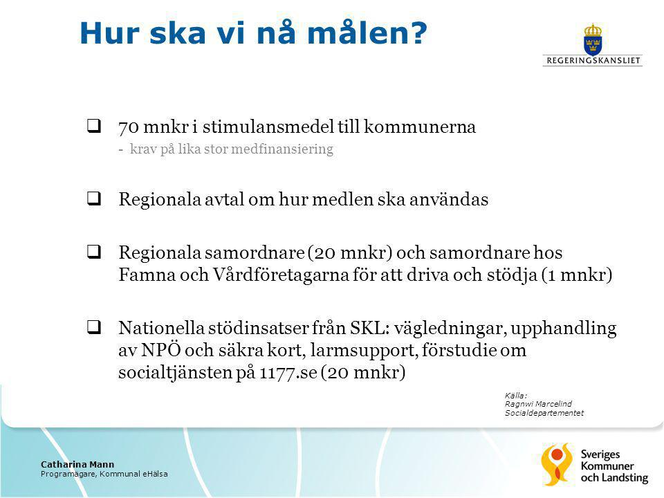 Hur ska vi nå målen 70 mnkr i stimulansmedel till kommunerna