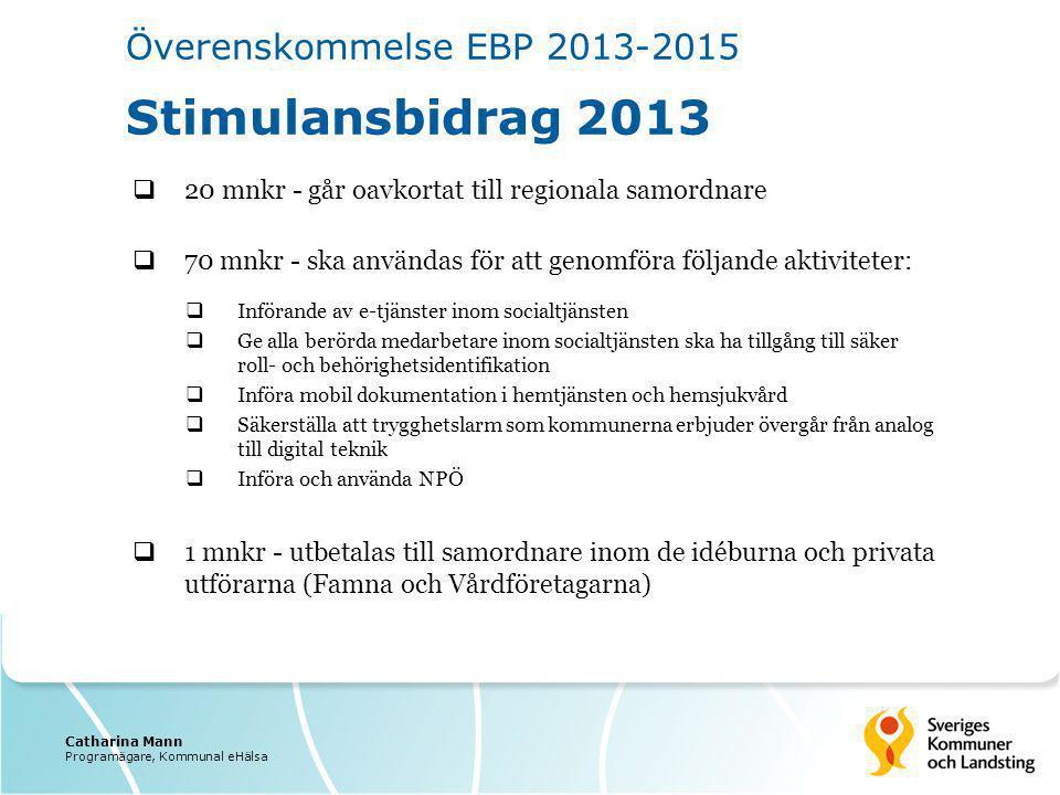 Överenskommelse EBP 2013-2015 Stimulansbidrag 2013