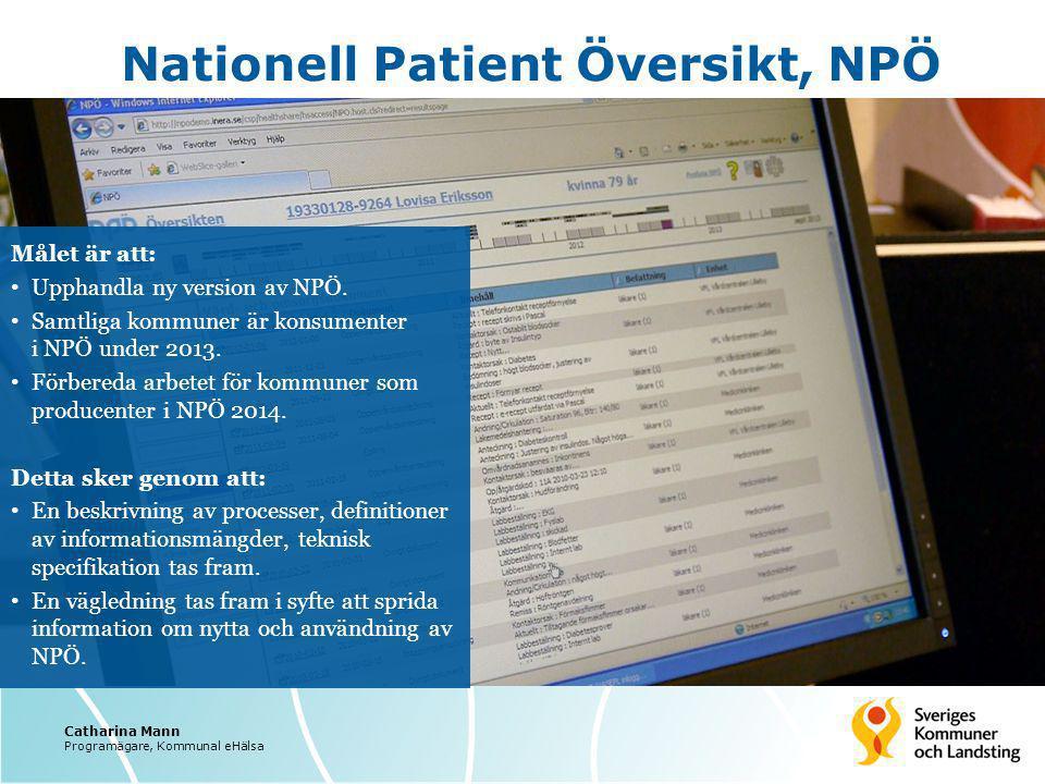 Nationell Patient Översikt, NPÖ