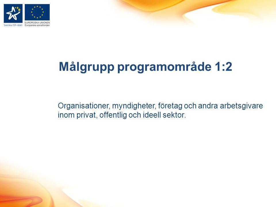 Målgrupp programområde 1:2