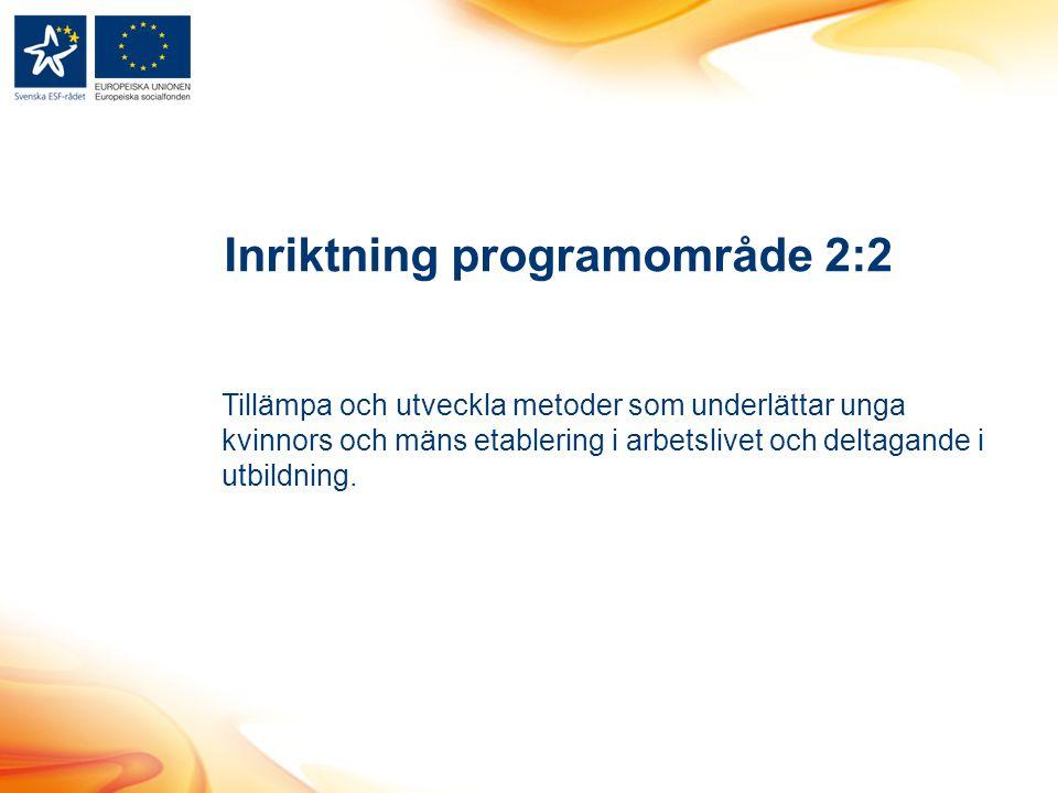 Inriktning programområde 2:2