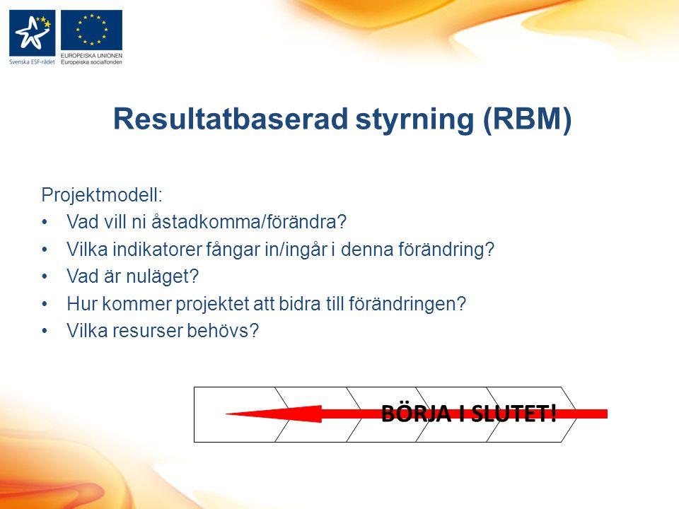 Resultatbaserad styrning (RBM)