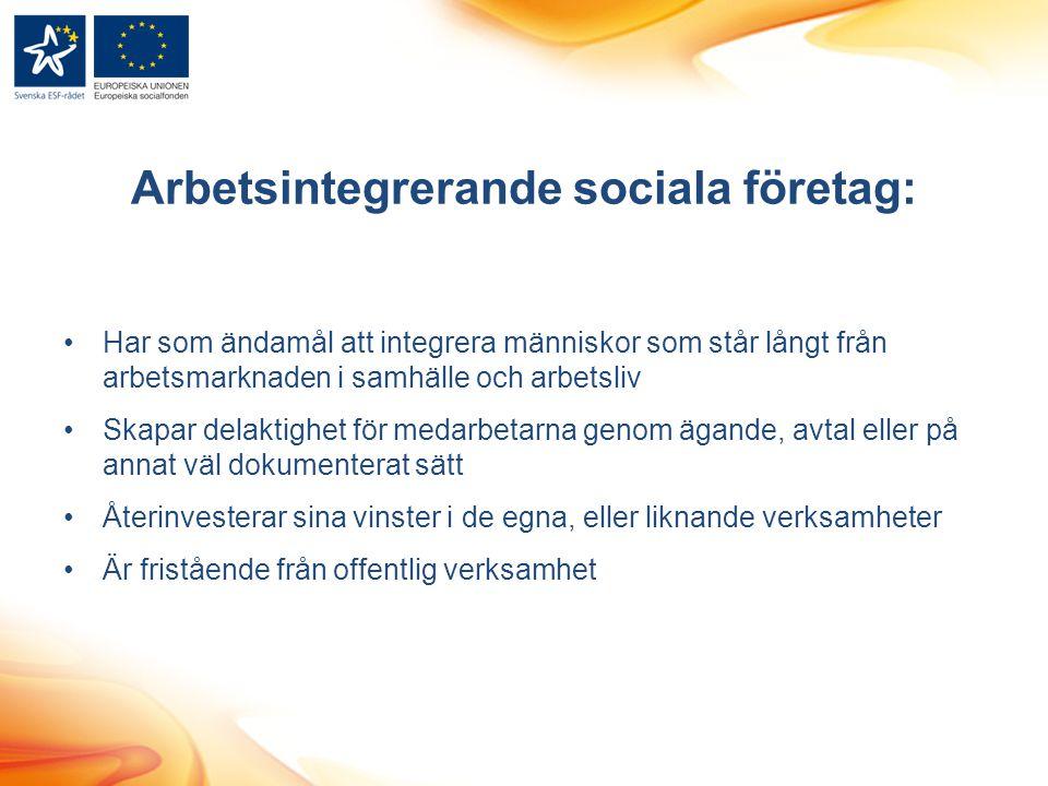 Arbetsintegrerande sociala företag: