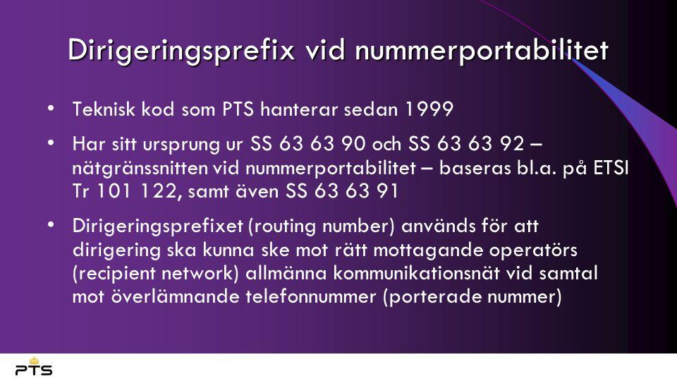 Dirigeringsprefix vid nummerportabilitet