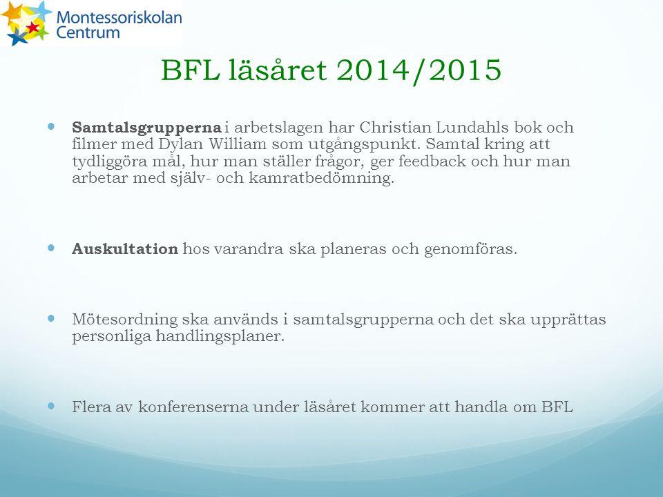 BFL läsåret 2014/2015