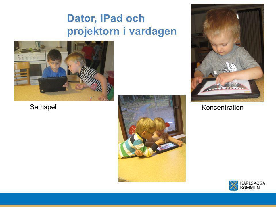 Dator, iPad och projektorn i vardagen