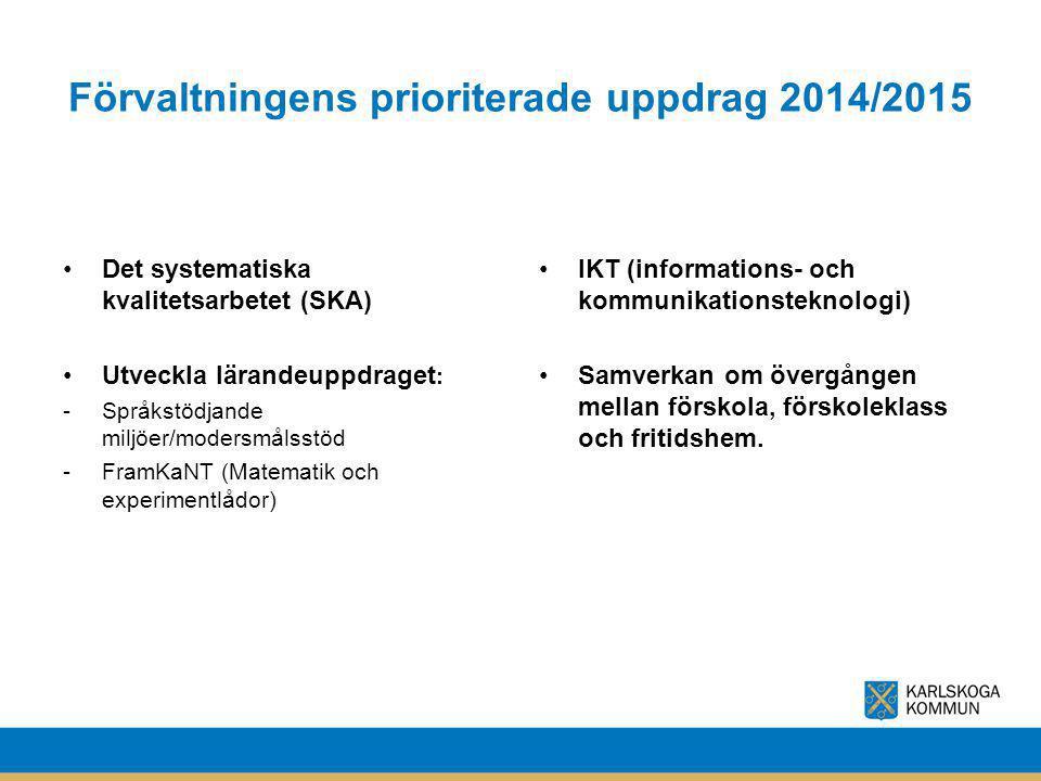 Förvaltningens prioriterade uppdrag 2014/2015