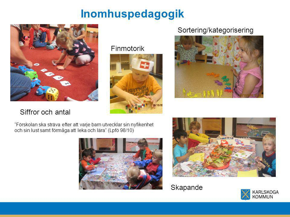 Inomhuspedagogik Sortering/kategorisering Finmotorik Siffror och antal