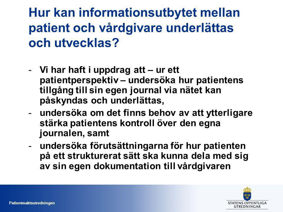 Hur kan informationsutbytet mellan patient och vårdgivare underlättas och utvecklas