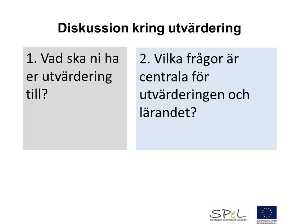 Diskussion kring utvärdering