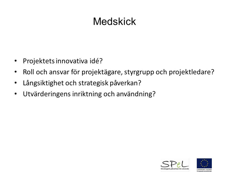 Medskick Projektets innovativa idé