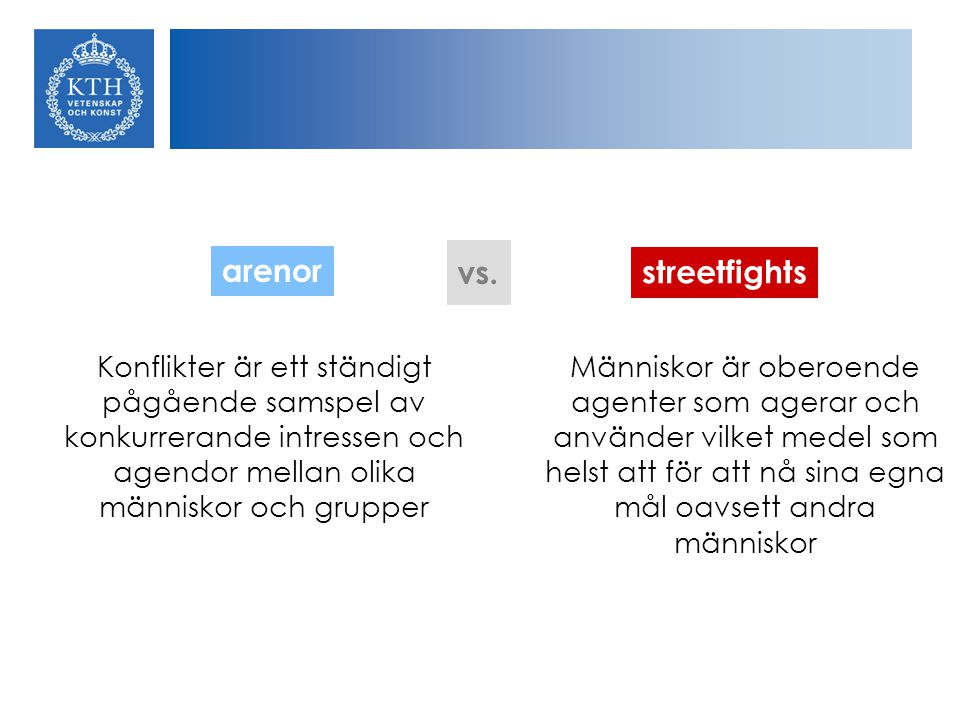 arenor vs. streetfights
