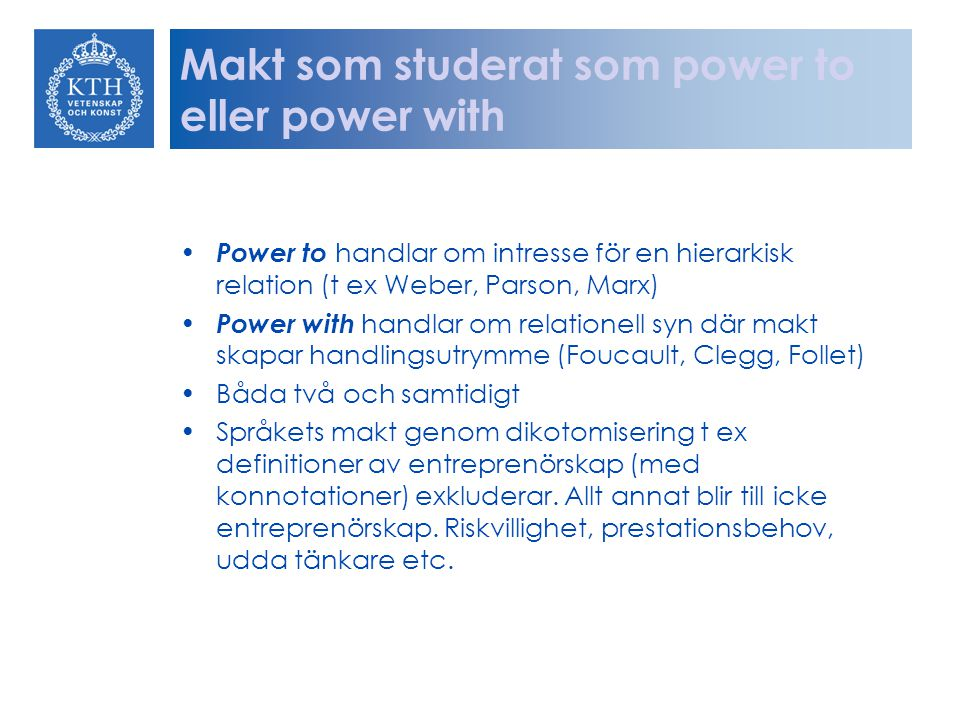Makt som studerat som power to eller power with