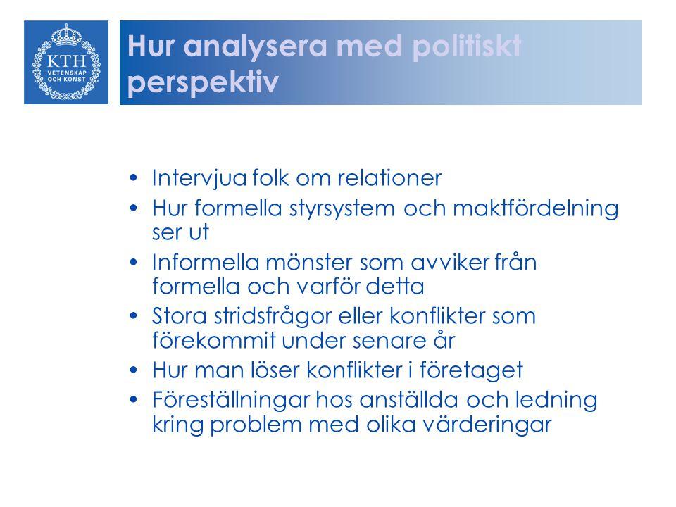 Hur analysera med politiskt perspektiv