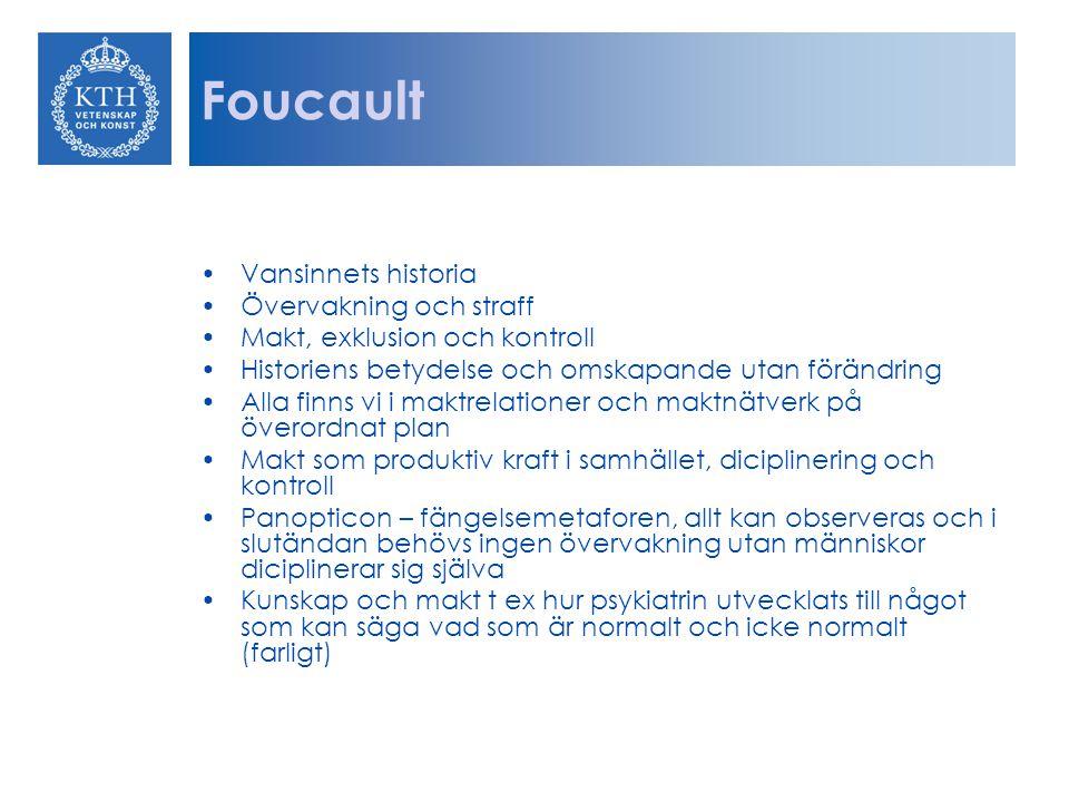 Foucault Vansinnets historia Övervakning och straff