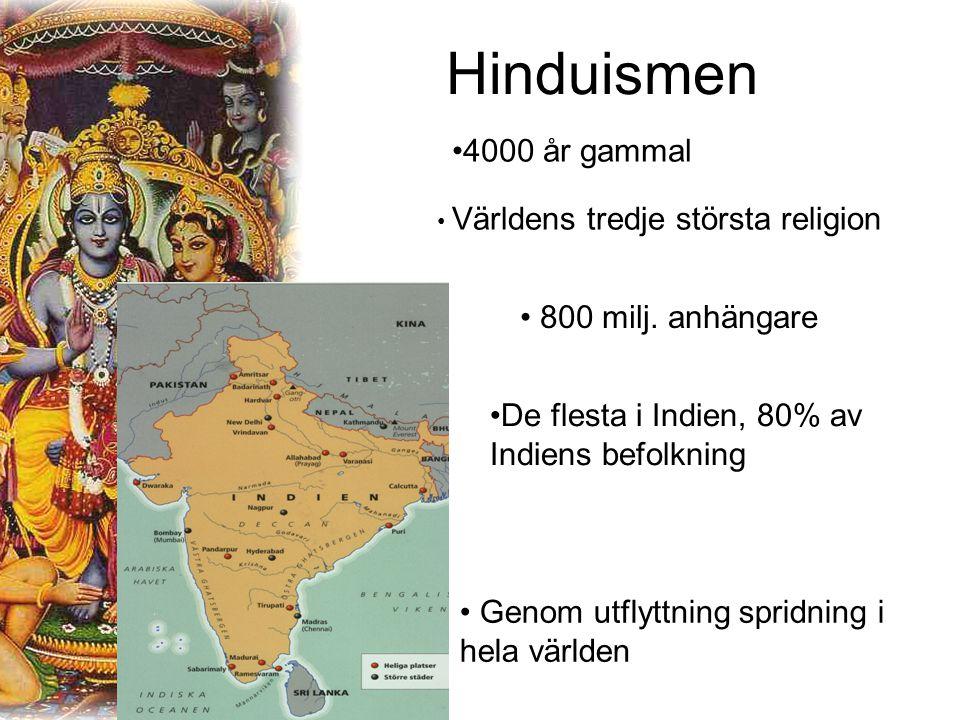 Hinduismen 4000 år gammal 800 milj. anhängare