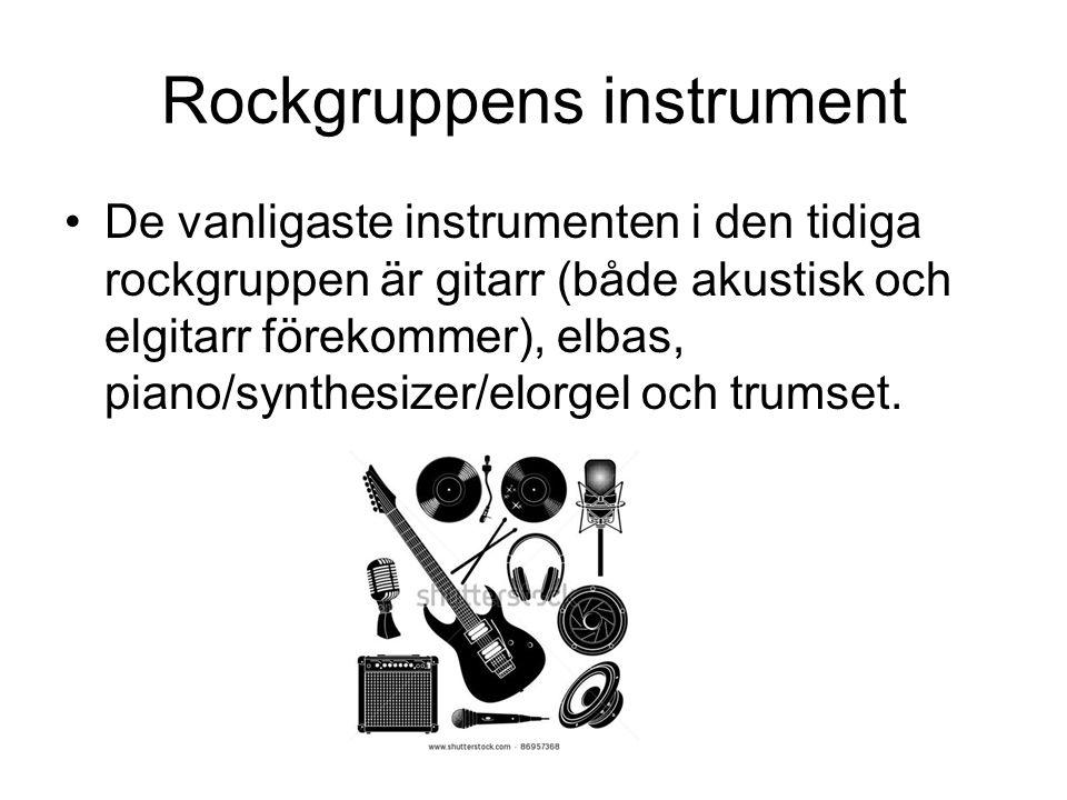 Rockgruppens instrument
