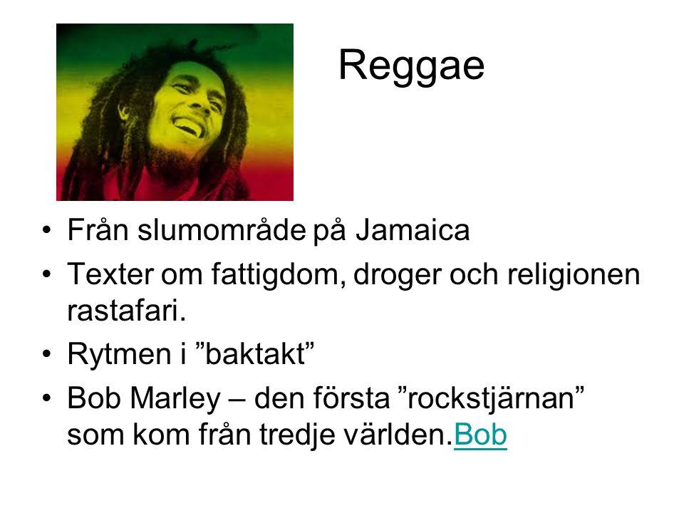 Reggae Från slumområde på Jamaica