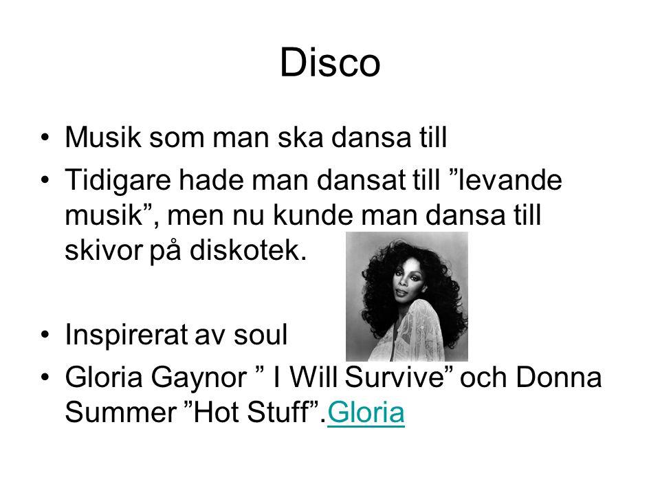 Disco Musik som man ska dansa till
