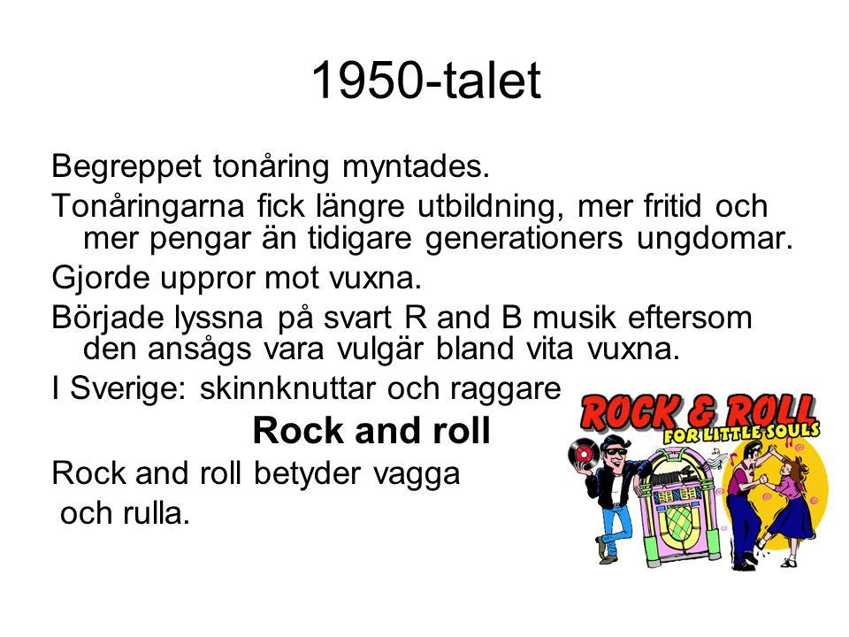 1950-talet Begreppet tonåring myntades.