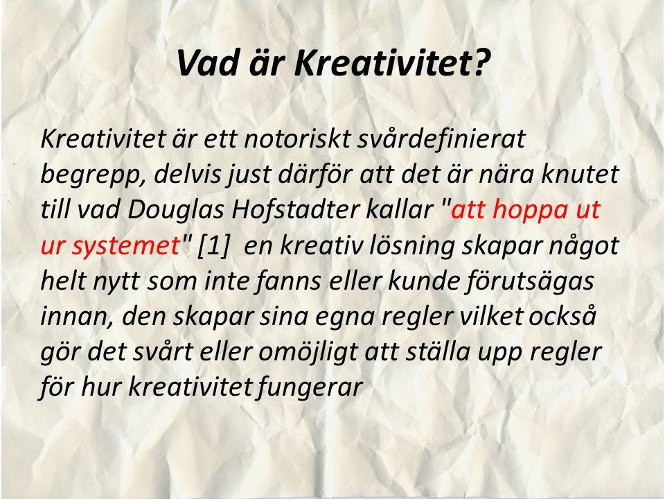Vad är Kreativitet