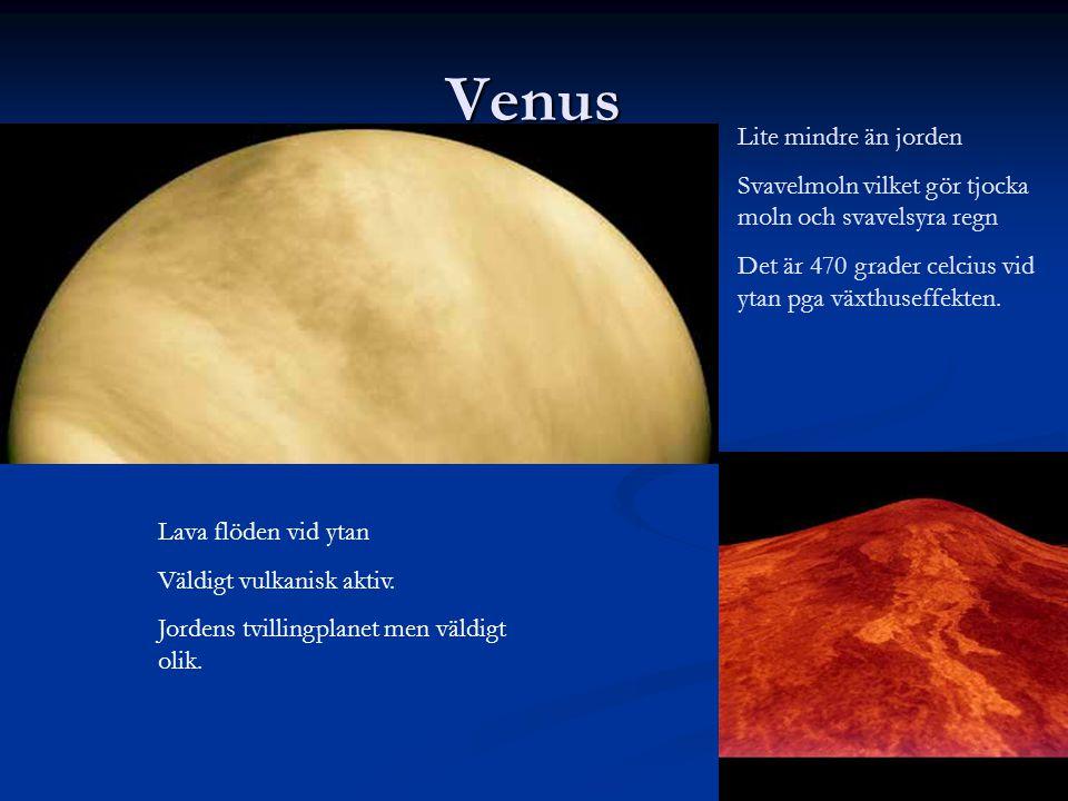 Venus Lite mindre än jorden