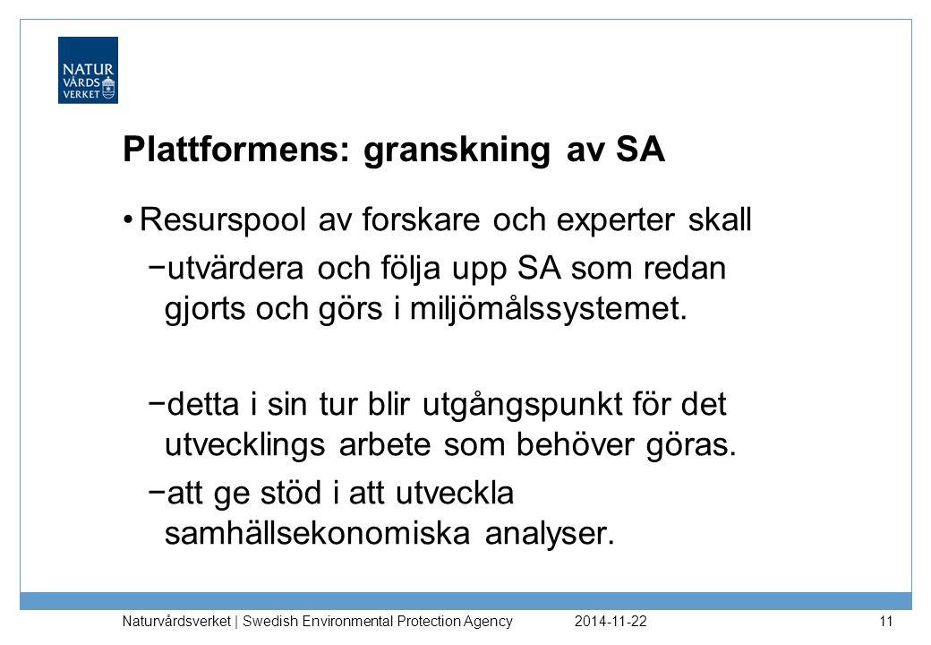 Plattformens: granskning av SA