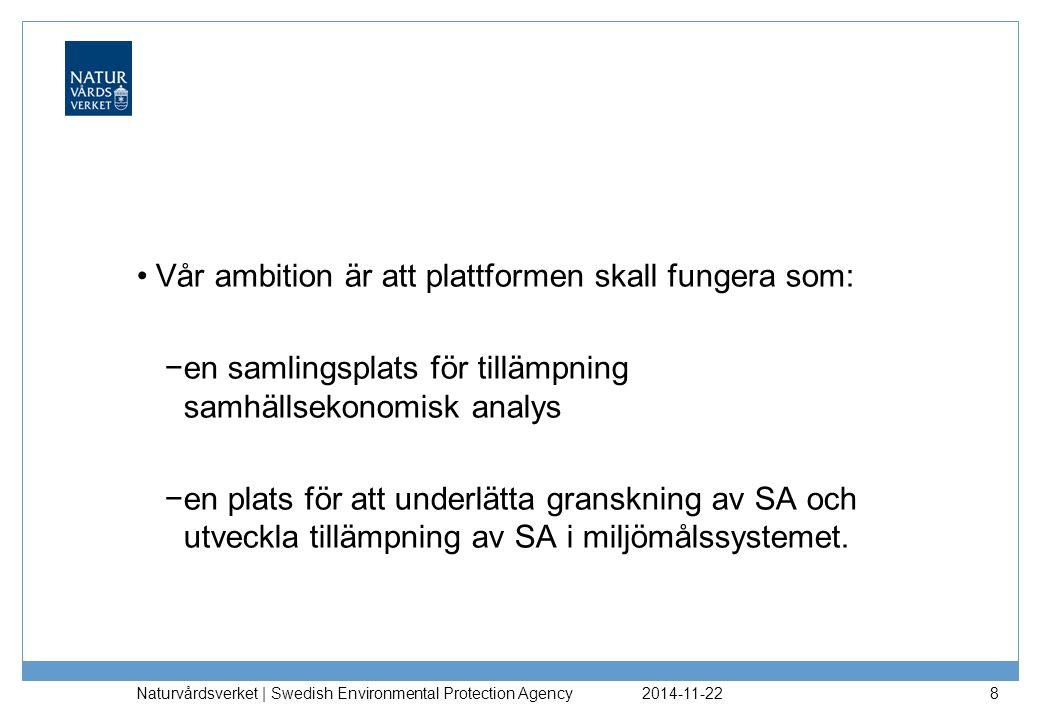 Vår ambition är att plattformen skall fungera som:
