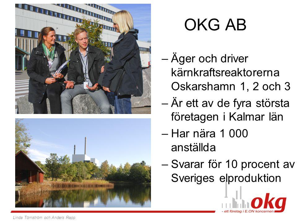 OKG AB Äger och driver kärnkraftsreaktorerna Oskarshamn 1, 2 och 3