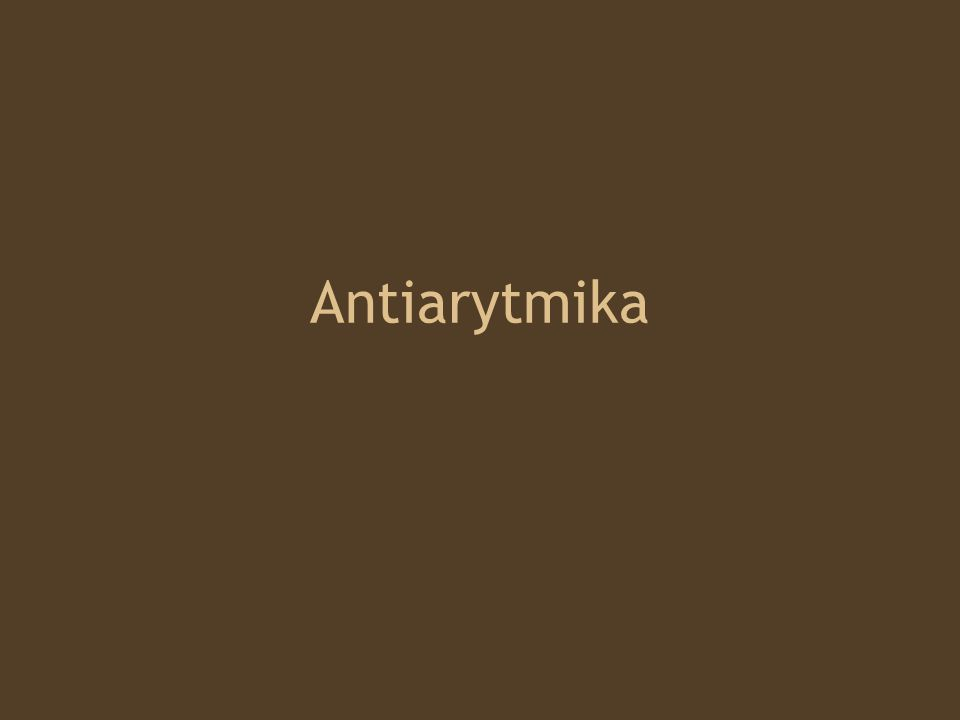 Antiarytmika