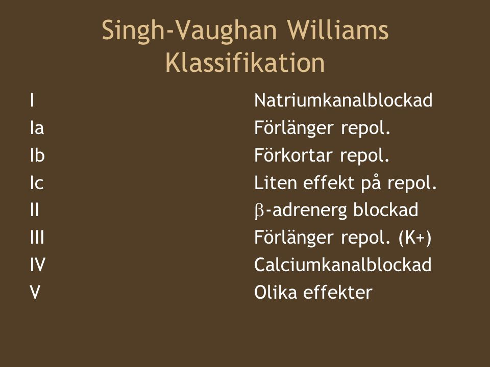 Singh-Vaughan Williams Klassifikation
