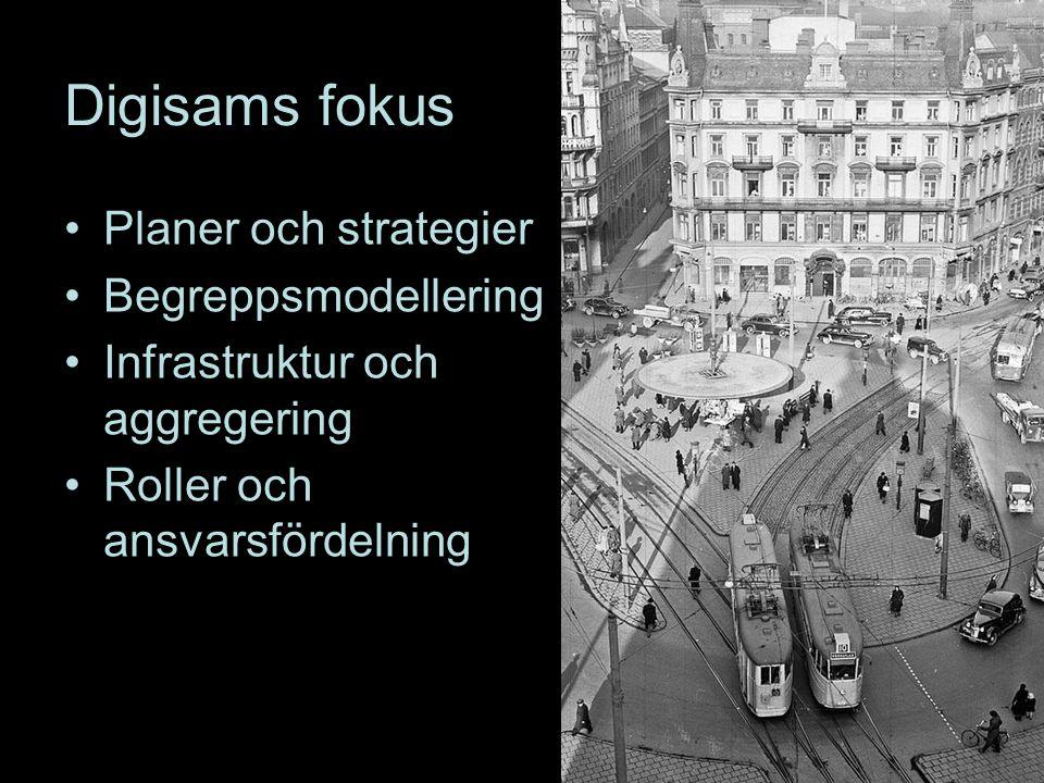 Digisams fokus Planer och strategier Begreppsmodellering