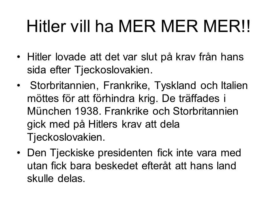 Hitler vill ha MER MER MER!!