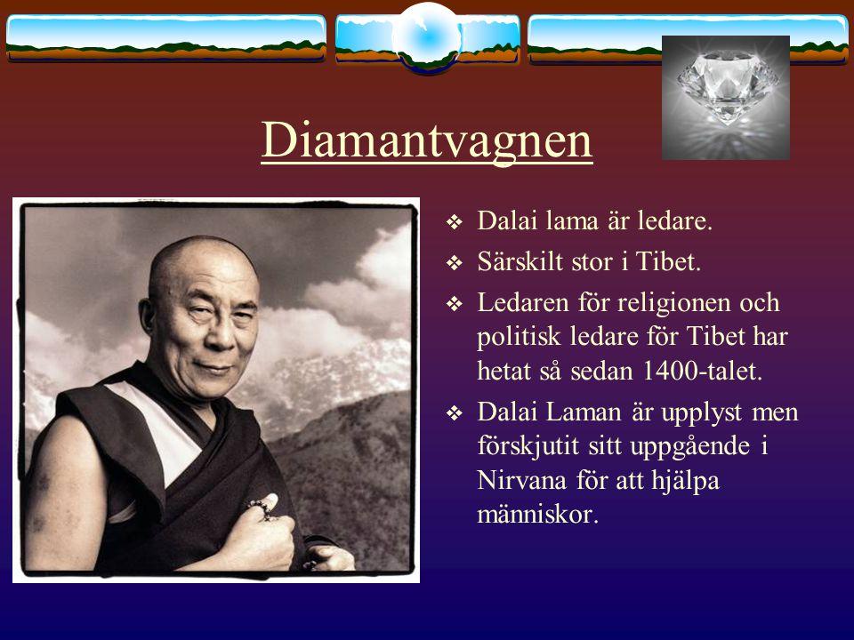 Diamantvagnen Dalai lama är ledare. Särskilt stor i Tibet.