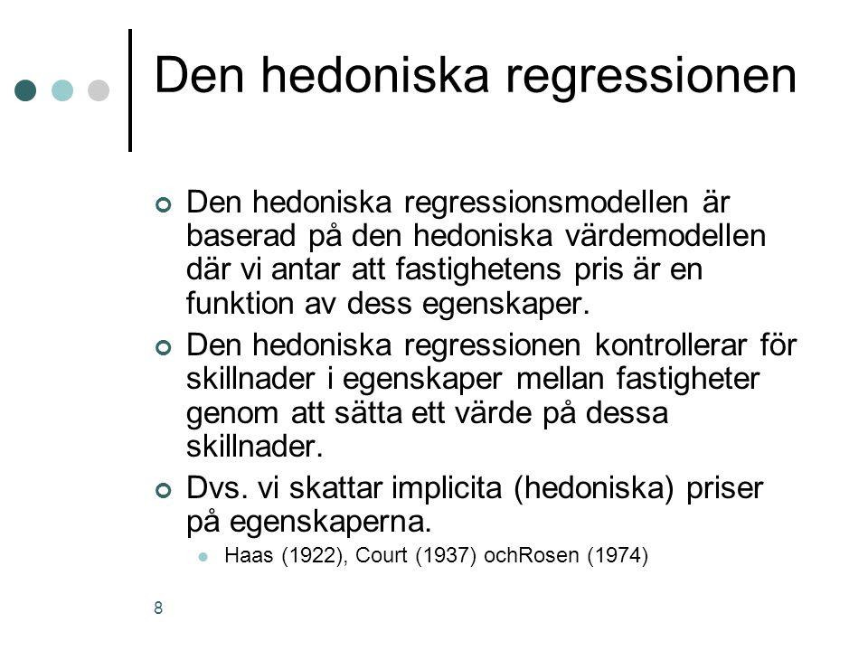 Den hedoniska regressionen