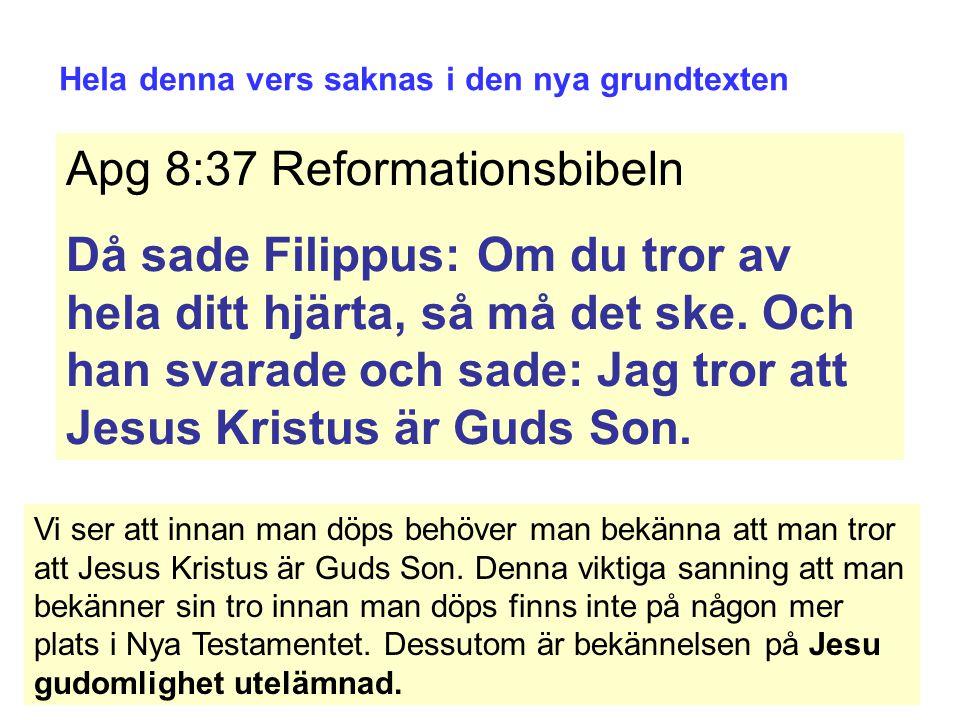 Apg 8:37 Reformationsbibeln