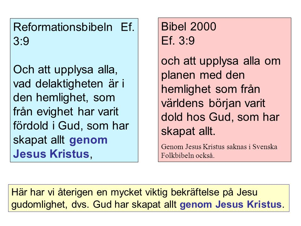 Reformationsbibeln Ef. 3:9