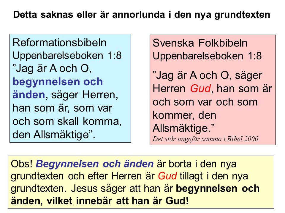 Svenska Folkbibeln Uppenbarelseboken 1:8
