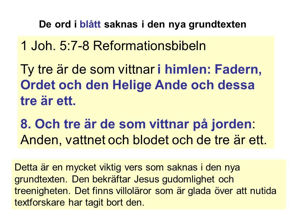 1 Joh. 5:7-8 Reformationsbibeln