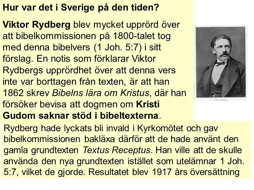 Hur var det i Sverige på den tiden