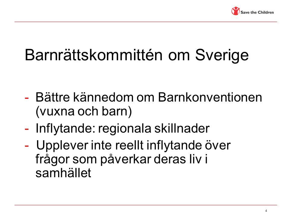 Barnrättskommittén om Sverige