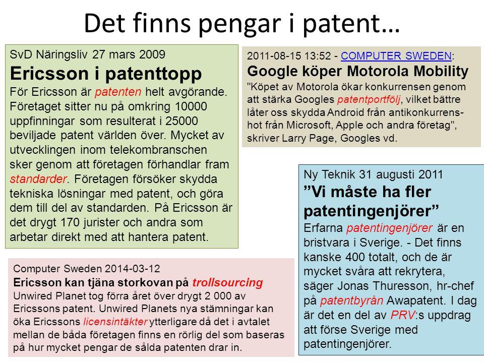 Det finns pengar i patent…