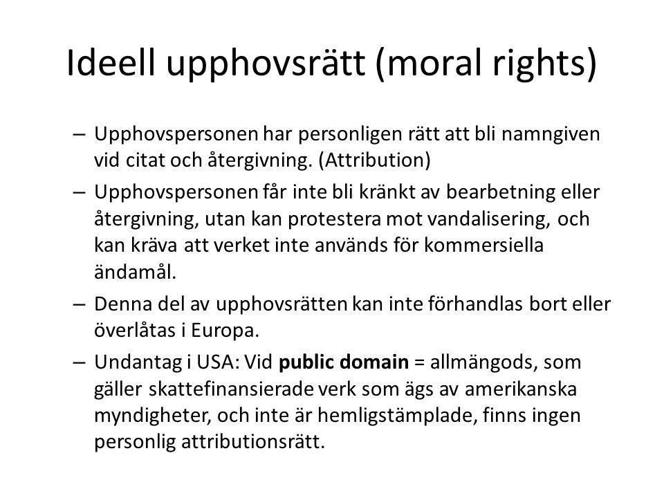 Ideell upphovsrätt (moral rights)